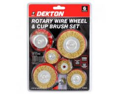 6 Piece Rotary Wheel & Cup Brush Set